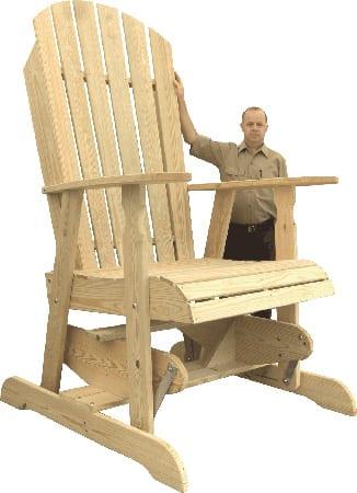 Adirondack Chair Glider