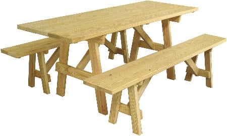 Mendon Woodcraft 6' Picnic Table