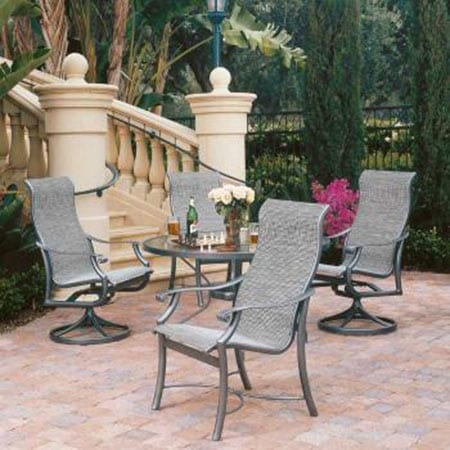 tropitone montreux sling 5 piece dining set - Tropitone Patio Furniture
