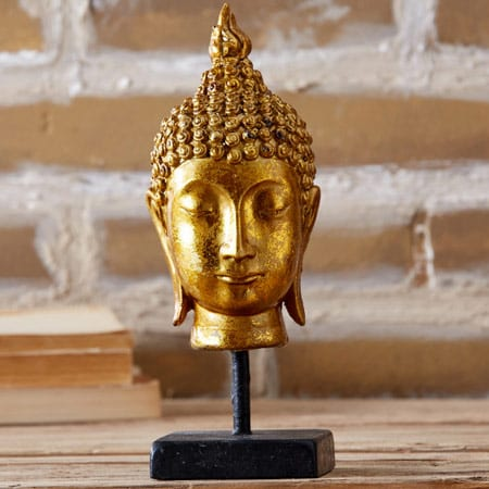Tozai Burnished Buddha Head
