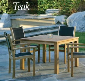 teak patio furniture ri
