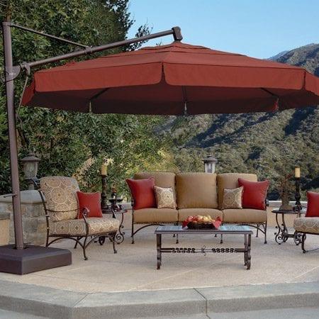 Treasure garden 13 39 cantilever umbrella mckays furniture for Treasure garden cantilever umbrella 13