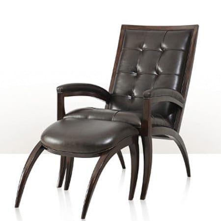 Arc Chair and Ottoman by Theodore and Alexander