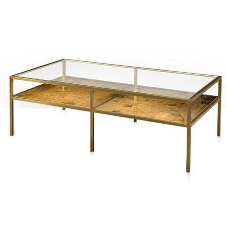 Burnished Bright Cocktail Table by Theodore and Alexander
