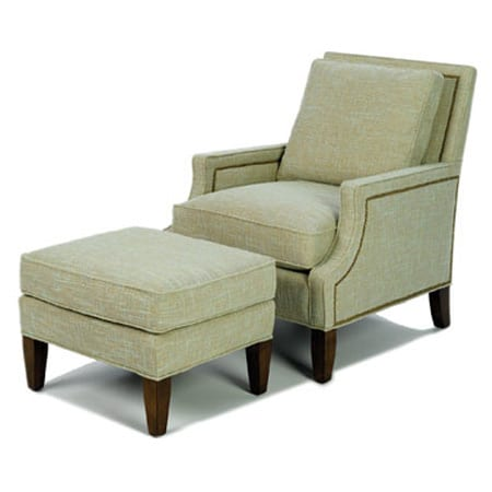 The Dean Chair and Ottoman by Wesley Hall