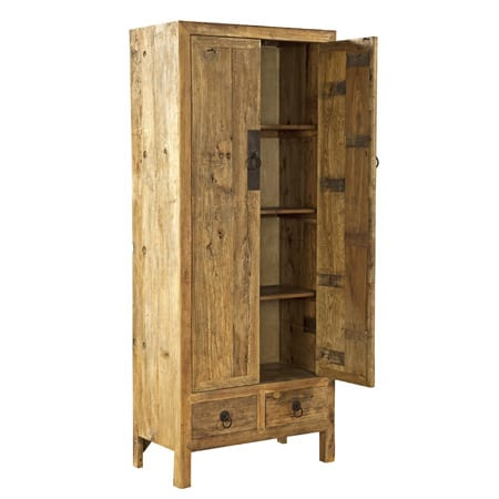 Furniture classics dining room old elm door armoire for Dining room armoire