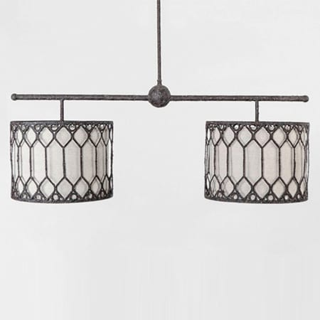 Gabby Double Drum Shade Chandelier