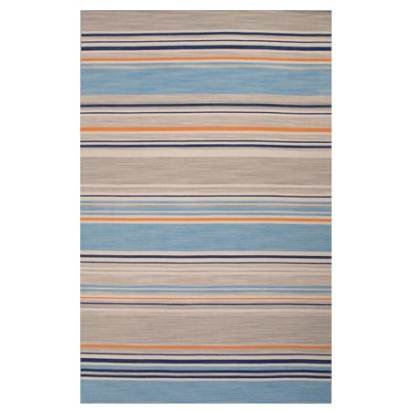 Jaipur Pura Vida Amistad Blue/Orange Area Rug